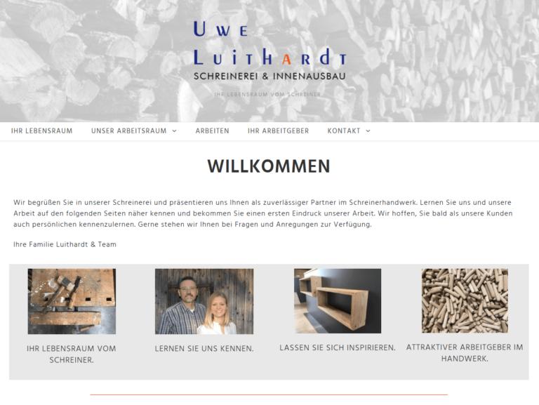 Unsere neue Homepage der Schreinerei